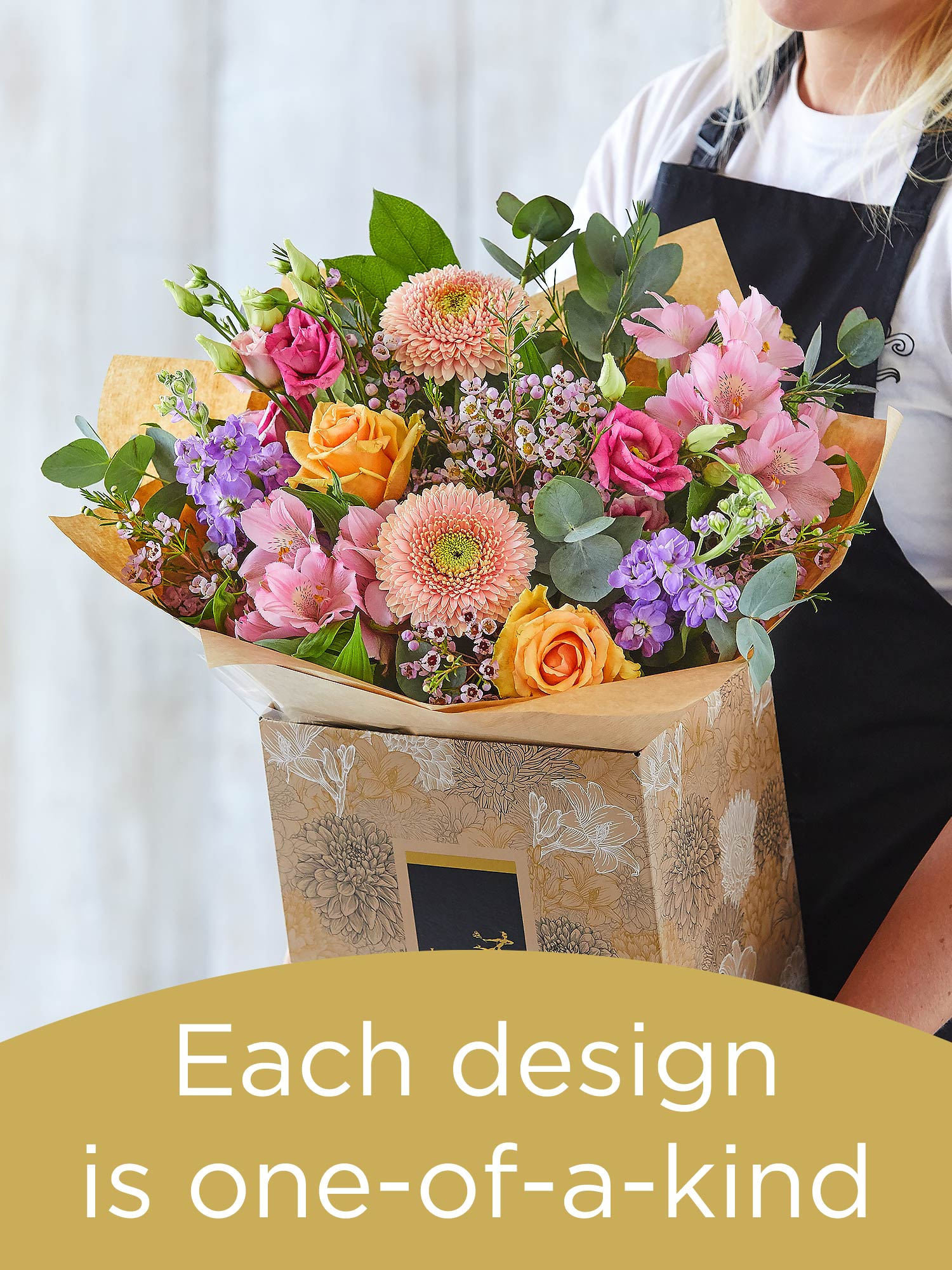Hand-tied bouquet made with seasonal flowers Flower Arrangement