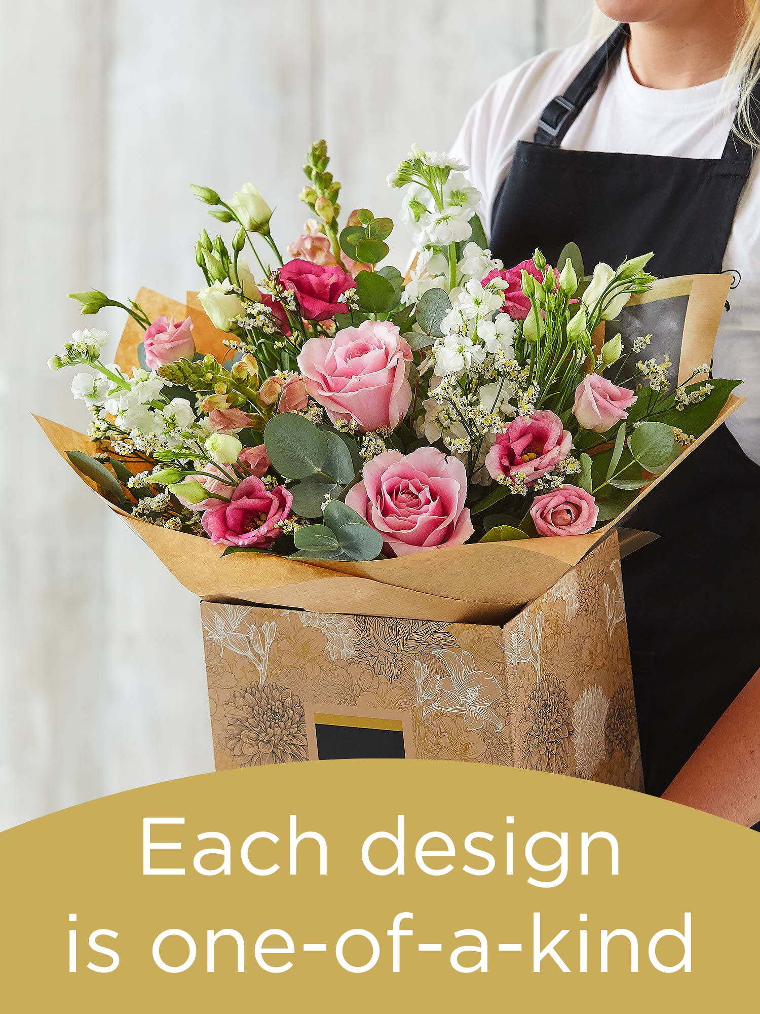 Hand-tied bouquet made with seasonal flowers Flower Arrangement