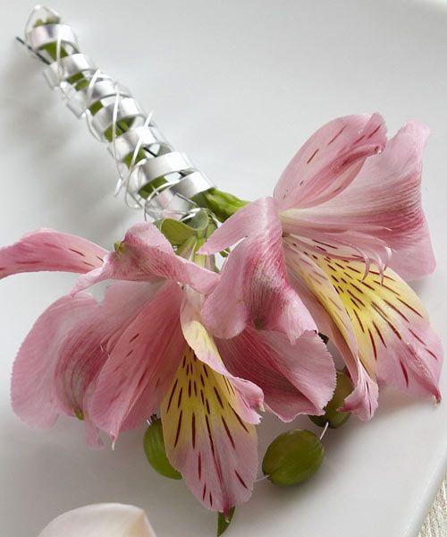 Alstroemeria Boutonniere Flower Arrangement