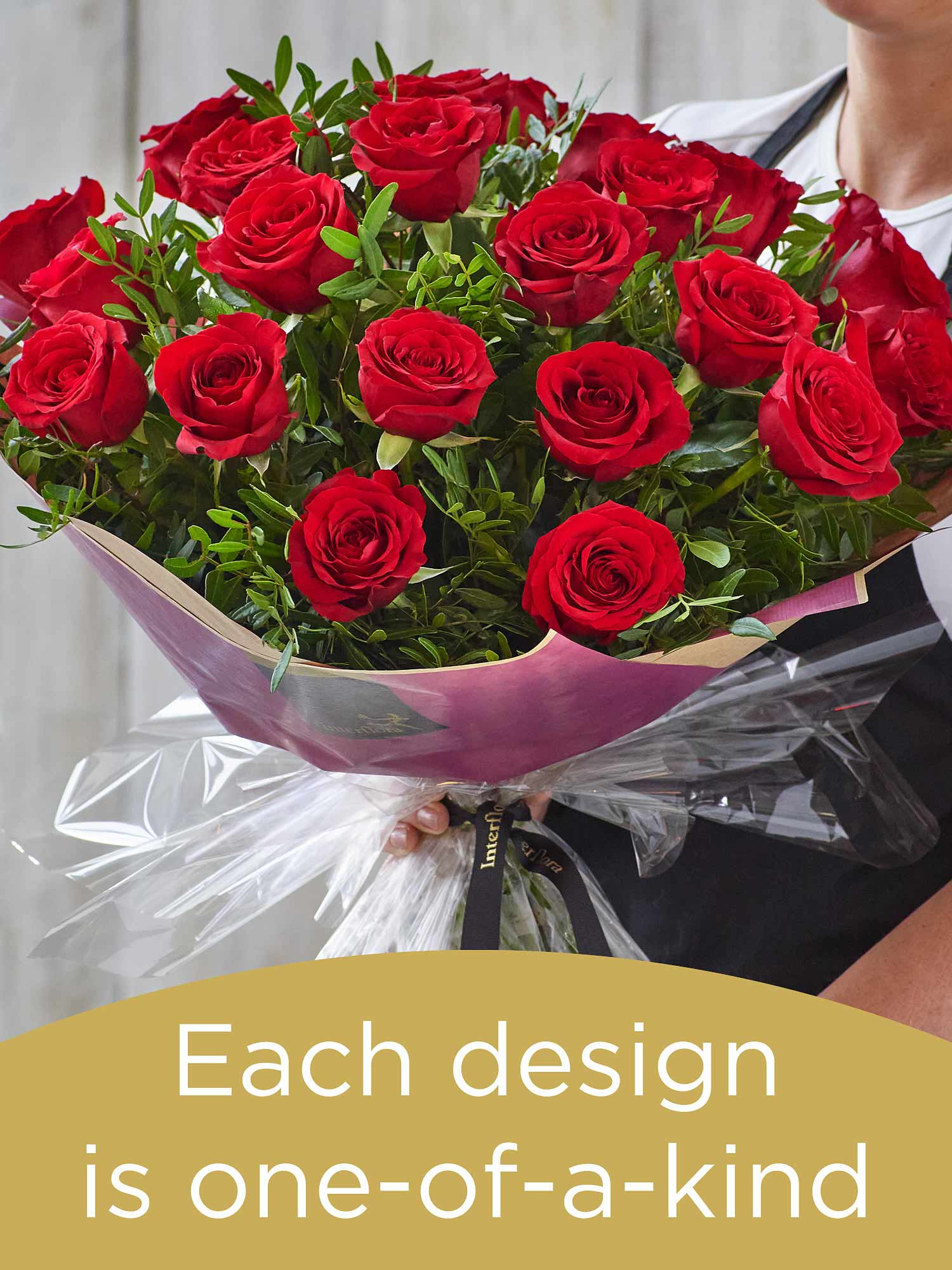Valentine's 24 red rose hand-tied bouquet Flower Arrangement